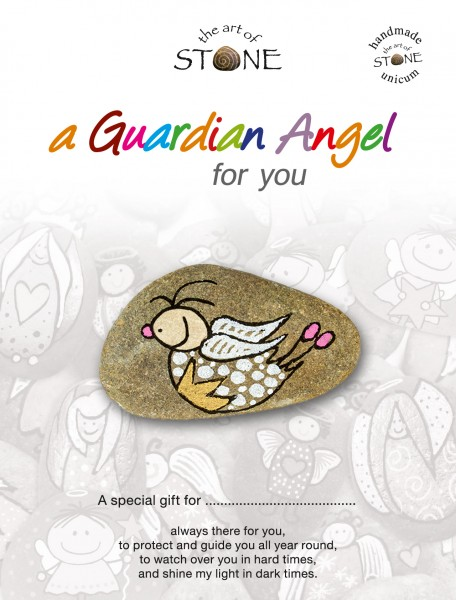 "a Guardian Angel for you maker 16 - Hand painted natural stone ""Unique Lucky Charm"""