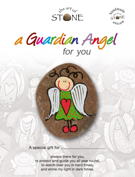 "a Guardian Angel for you maker 03 - Hand painted natural stone ""Unique Lucky Charm"""
