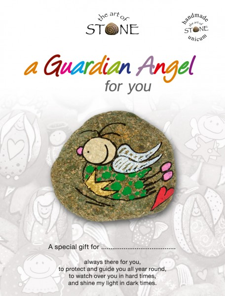 "a Guardian Angel for you maker 12 - Hand painted natural stone ""Unique Lucky Charm"""