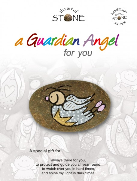 "a Guardian Angel for you maker 10 - Hand painted natural stone ""Unique Lucky Charm"""