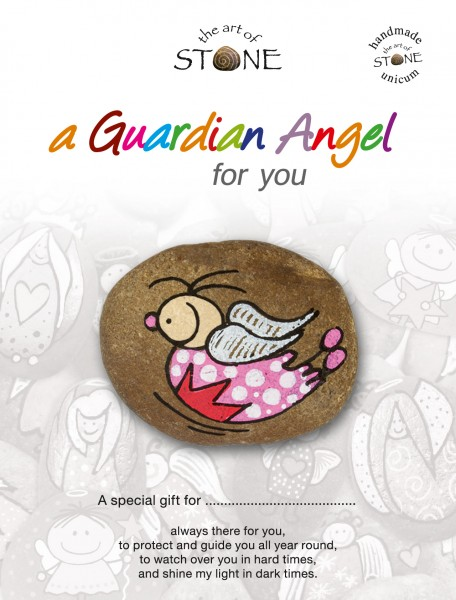 "a Guardian Angel for you maker 22 - Hand painted natural stone ""Unique Lucky Charm"""